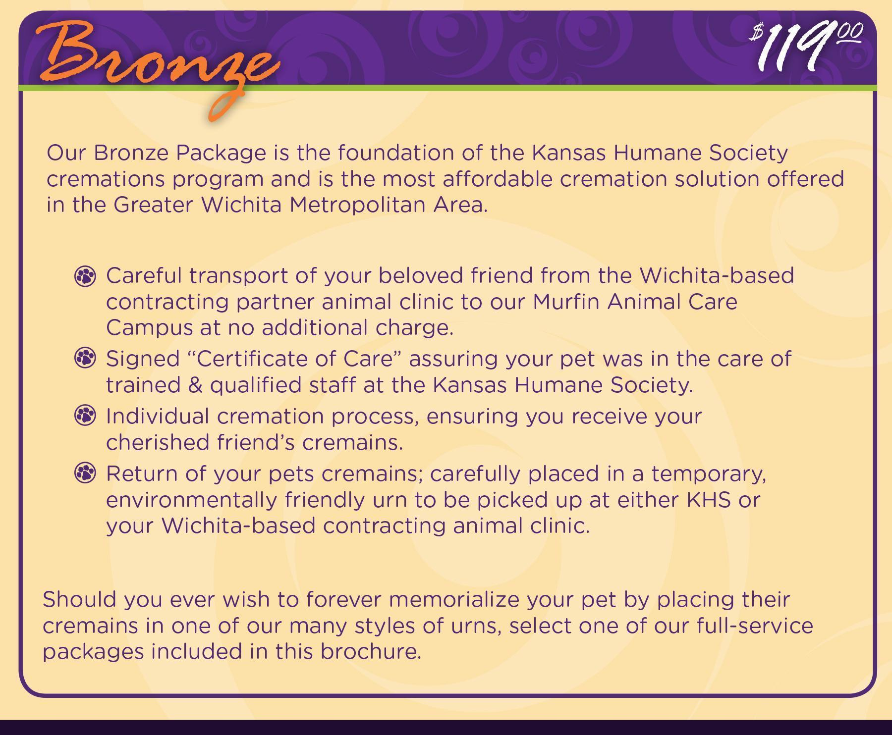 FF Bronze Package - Putting Dog to Sleep-Kansas Humane Society-Animal Shelter