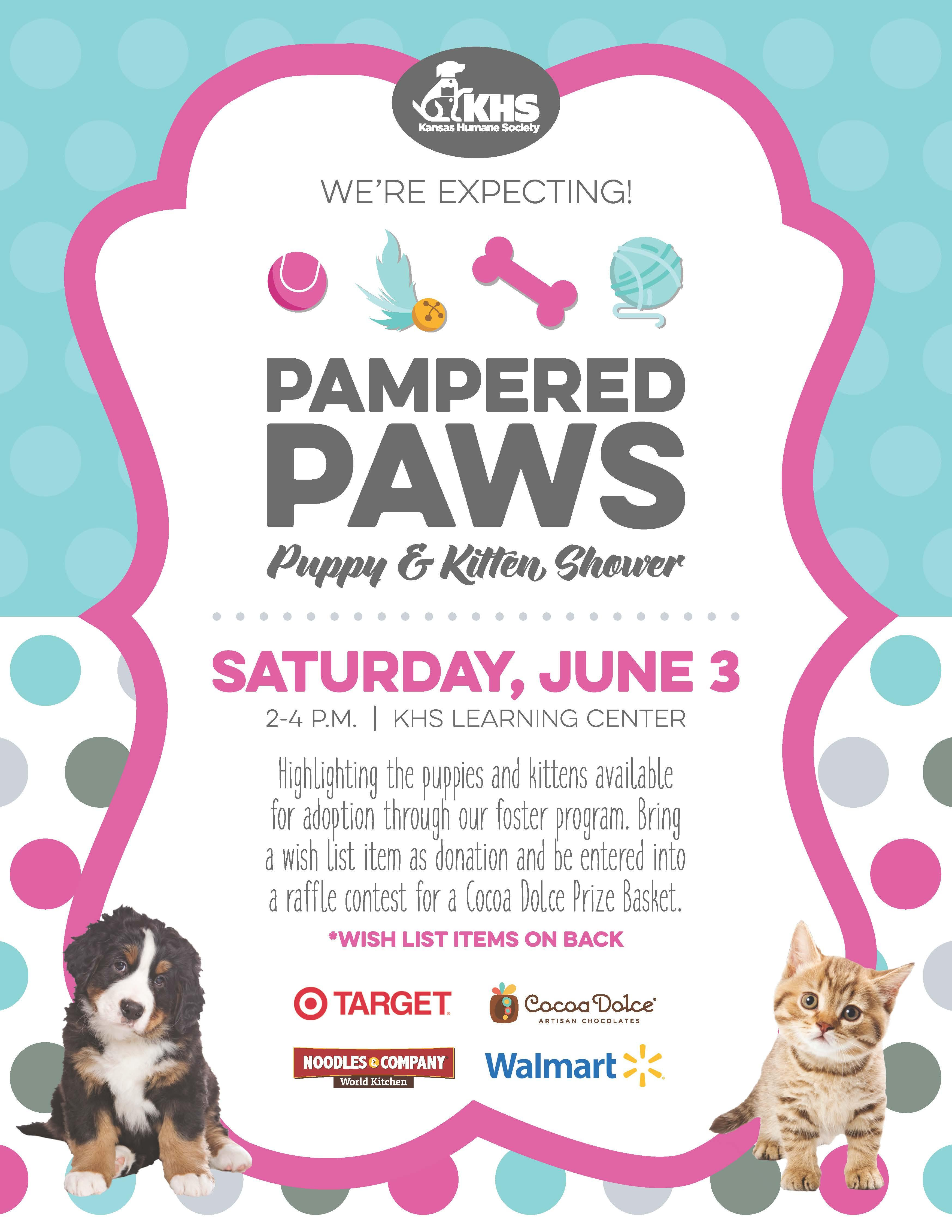 Pampered Paws Puppy & Kitten Shower